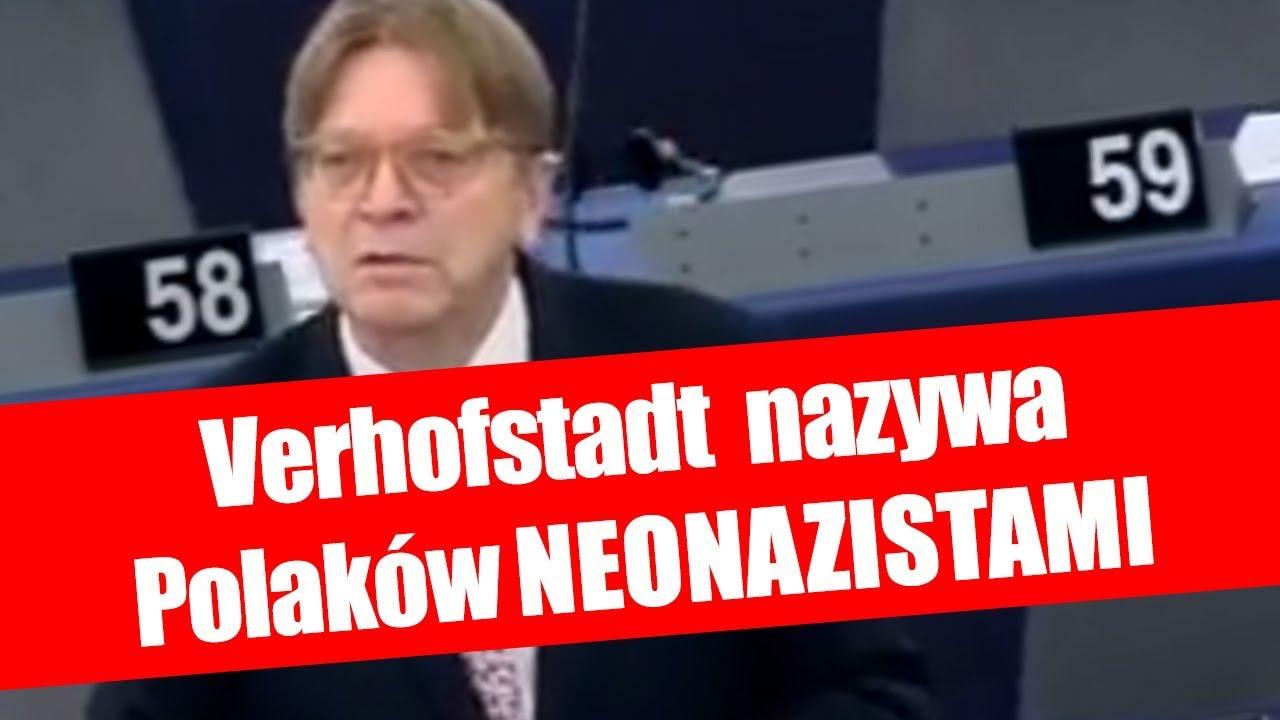 Przyjaciel Petru, Guy Verhofstadt o polskich patriotach: NEONAZIŚCI