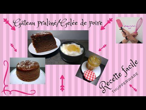 gÂteau-pralinÉ-et-gelÉe-de-poire-recette-facile-tupperware-microcook