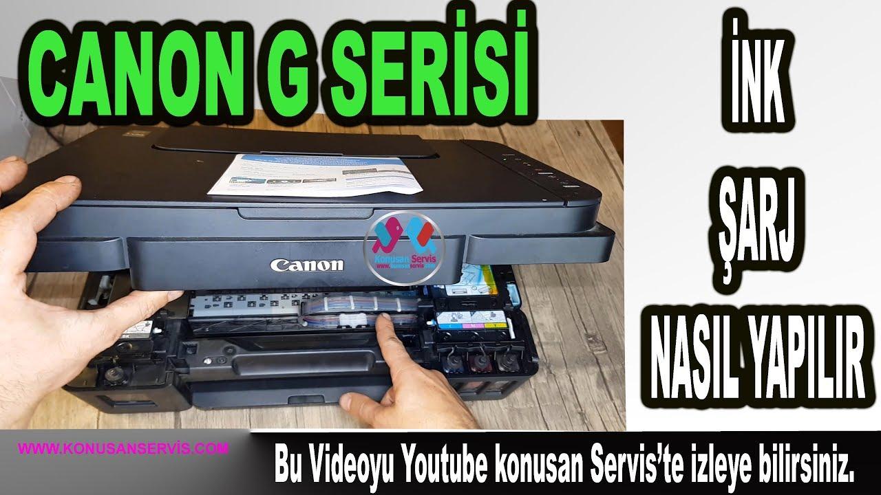 Canon G serisi Hortum Boşluğu Nasıl Alınır   canon ink sarj nasıl yapılır B. 599. 4K
