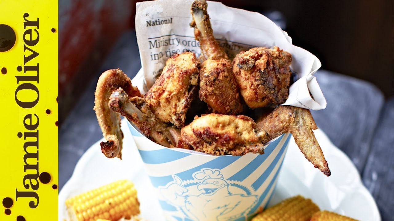 Jamie fried chicken jamie oliver youtube forumfinder Image collections