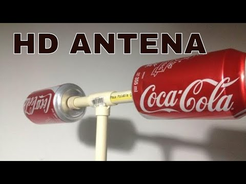 HOW TO MAKE HOMEMADE HD ANTENNA, using beer can