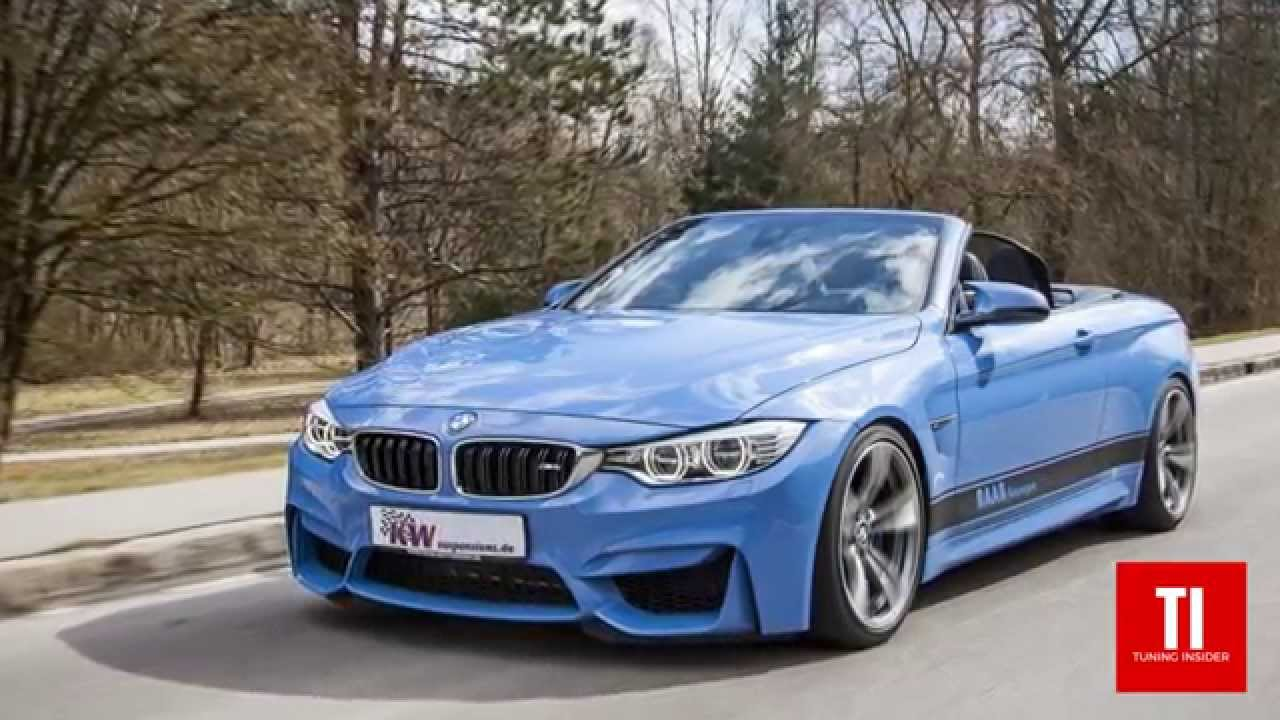 BMW 428I Convertible >> Up to 65mm lowering for BMW 4-series convertible - with KW coilover kit - YouTube