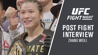 "UFC Shenzhen: Zhang Weili - ""I Knew I'd Be The First Chinese Champ"""