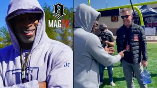 Deion Sanders Is Surprised When Troy Aikman Shows Up To Jackson State's Football Game! 🏈