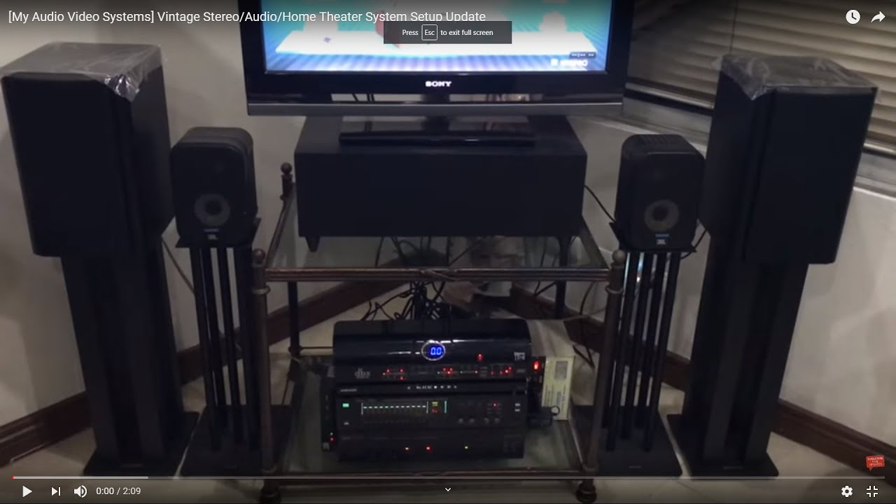 My Vintage Stereo/Audio/Home Theater System Setup Update - YouTube