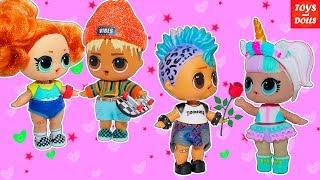Сериал про Санни и Скейти, Панки и Единорожку! Мультики для девочек про куклы лол! Сборник LOL Doll