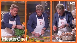 Gordon Shows Various Prepping Methods  Season 10 Ep. 3  MASTERCHEF