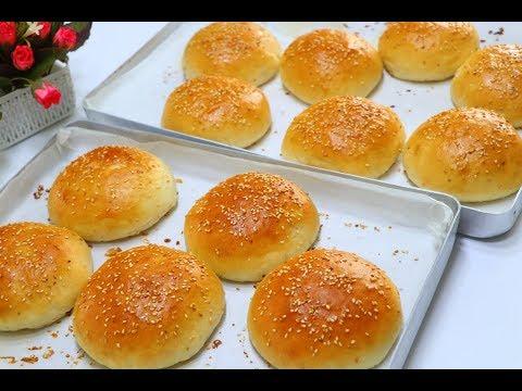 أفضل وصفة لخبز البرجر وسر هشاشته وطراوته بدون بيض وبدون زبدة بطريقة أحترافية مضمون وناجح 100 %
