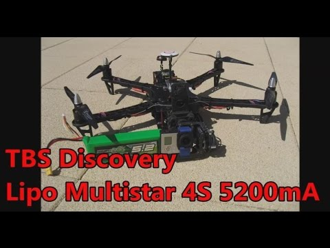 Test Lipo Multistar 4S 5200mA Test on TBS Discovery - Turnigy - FPV