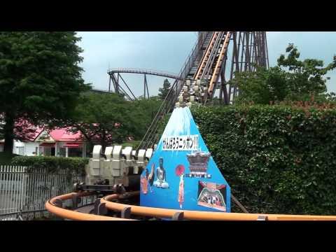 Bandit Roller Coaster POV Steel Togo Hyper Coaster Yomiuriland Tokyo Japan HD 1080p
