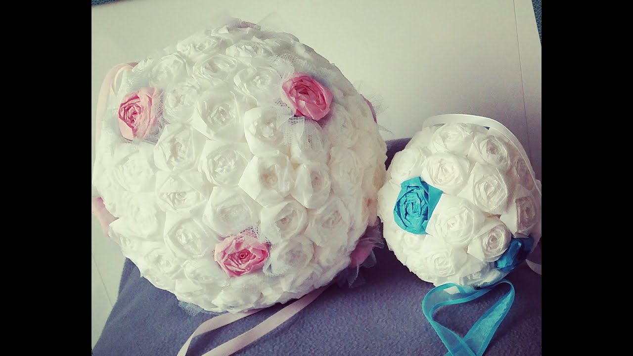 Cr ation boule de fleur en papier youtube - Fabrication de boule de noel en papier ...