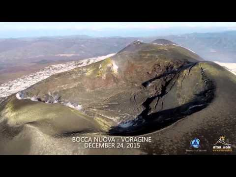 Amazing drone footage above Etna's summit craters
