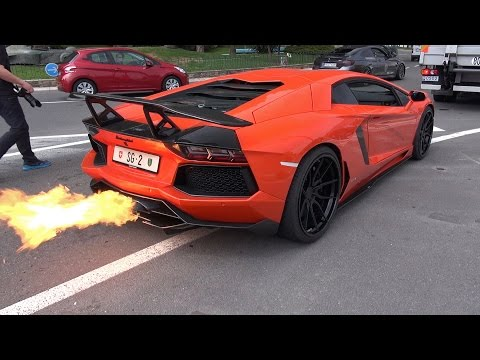 INSANE!! Lamborghini Aventador w/ Capristo Exhaust Shooting FLAMES!!