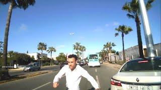 Agression en voiture sur route Dar Bouazza - Casablanca