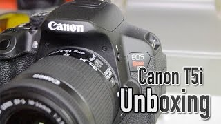 Unboxing Canon EOS Rebel T5i, En Español