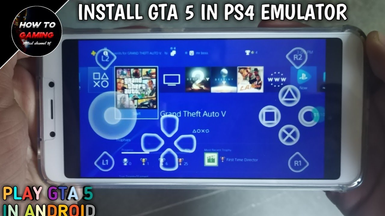 NEW INSTALL GTA 5 IN PS4 EMULATOR AND PLAY GTA 5 IN ANDROID