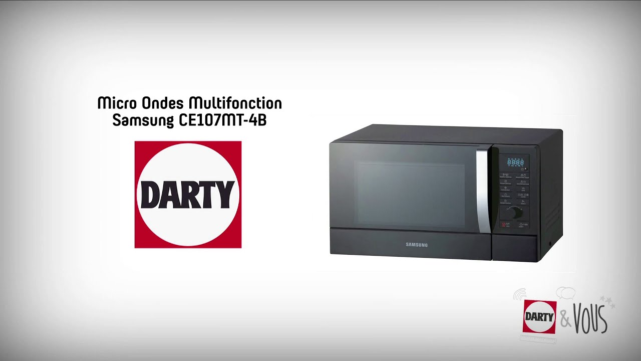 micro ondes combin samsung ce107mt 4b d monstration darty youtube. Black Bedroom Furniture Sets. Home Design Ideas