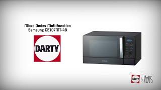 Micro-ondes combiné Samsung CE107MT-4B - démonstration Darty