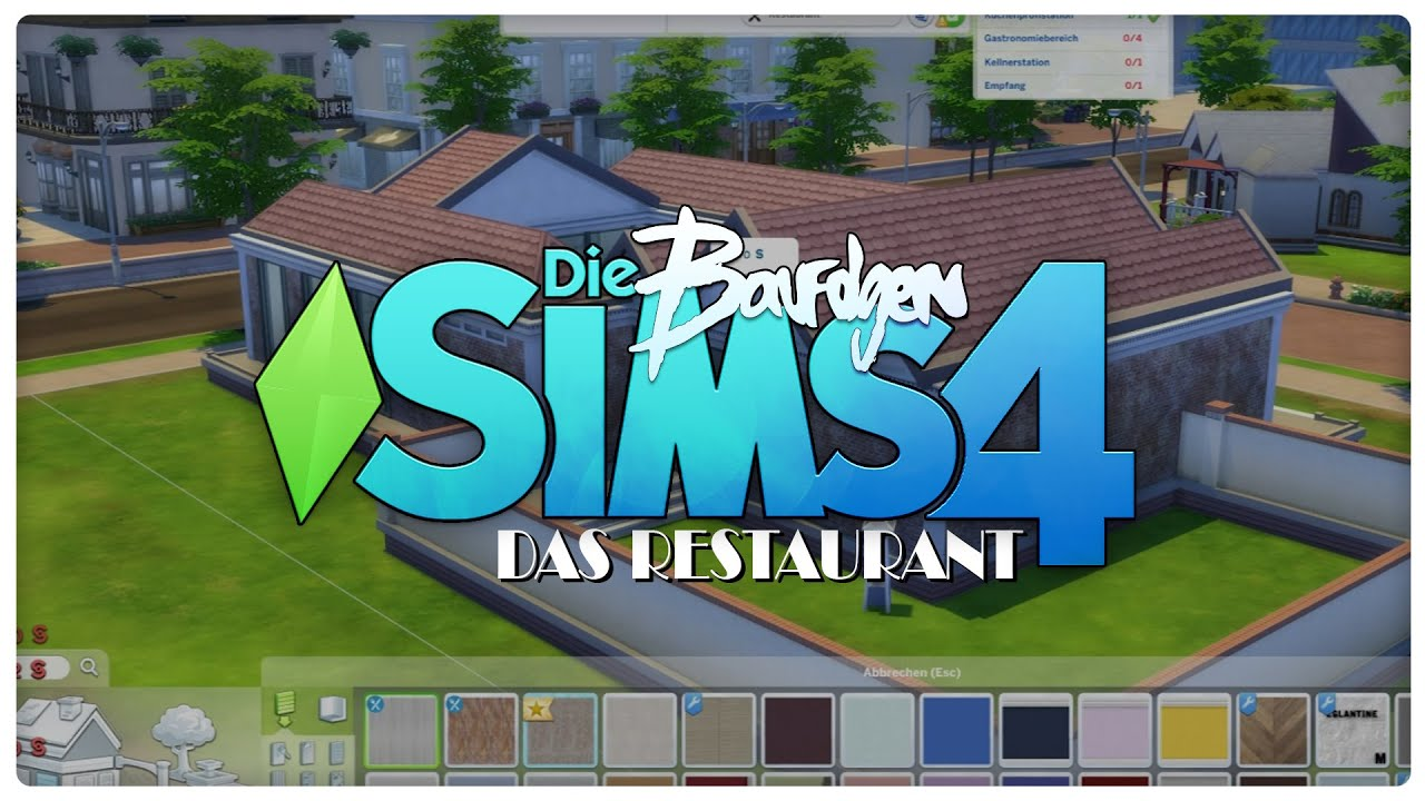 Die sims 4 gaumenfreuden release showcase restaurant gameplay pack -  01 Restaurant Baufolge Mh Die Sims 4