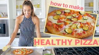 HEALTHY PIZZA RECIPE | Low Carb, Vegetarian, Cauliflower Crust