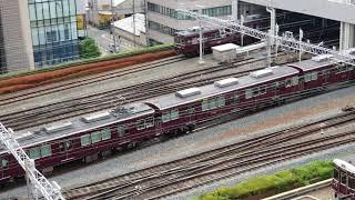 20180806 081852 新阪急ホテルアネックスより阪急梅田駅の朝のラッシュ