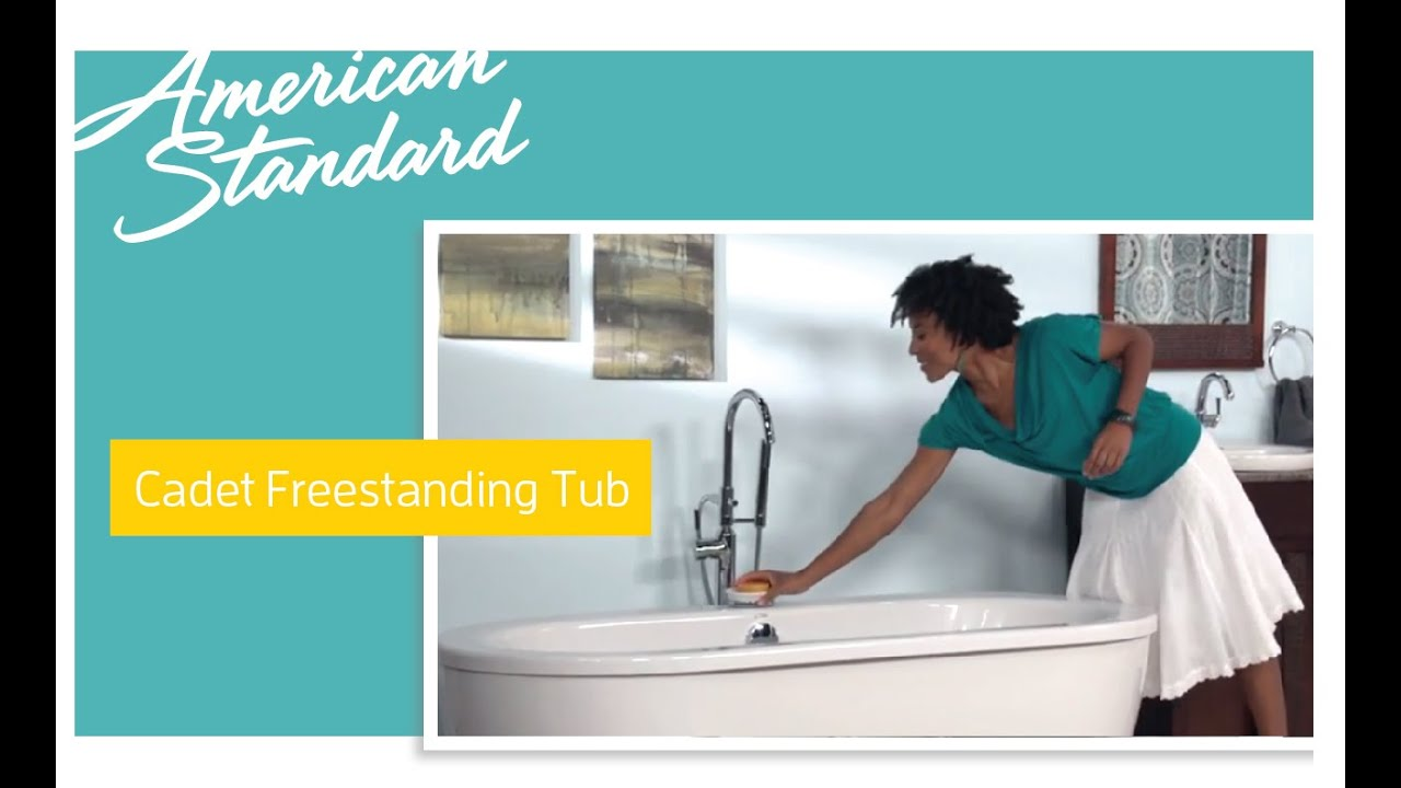 Cadet Freestanding Soaker Tub from American Standard - YouTube