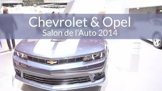 Salon de l'Auto de Genève 2014 - Chevrolet & Opel (General Motors)