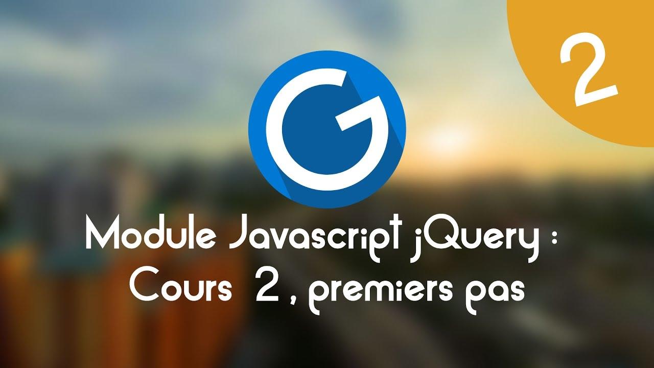 Download Formation IMM - Module Javascript jQuery: Cours tuto 2, premiers pas