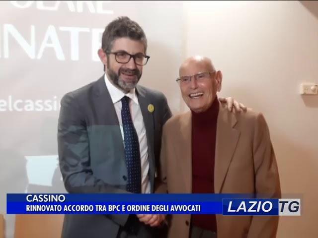 Laziotv   CASSINO, RINNOVATO ACCORDO TRA BPC E ORDINE DEGLI AVVOCATI
