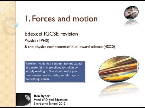 Forces and Motion REVISION PODCAST (Edexcel IGCSE physics topic 1)