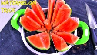 How to Slice a Watermelon the Fastest Way!? + Bloopers