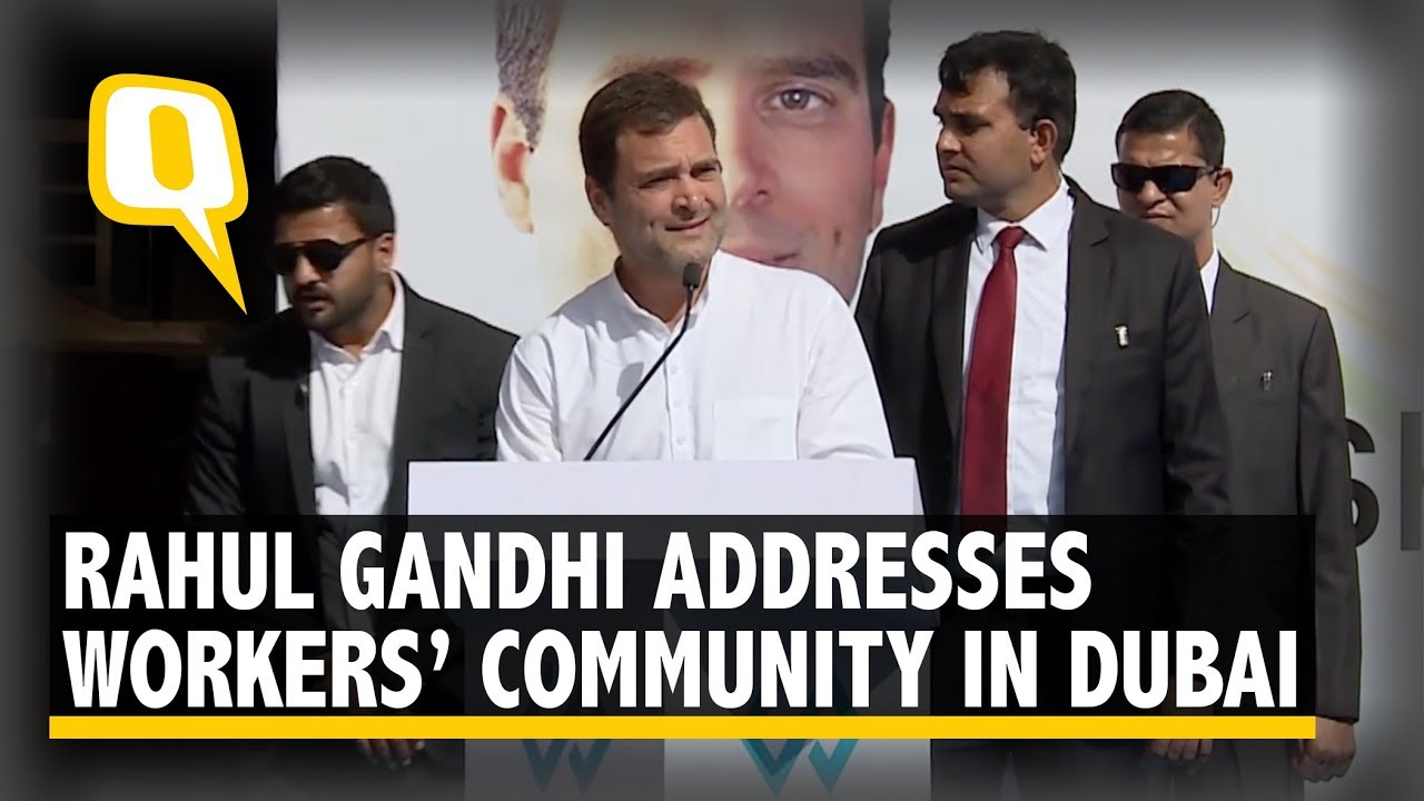 Congress President Rahul Gandhi Addresses Workers Community in Dubai