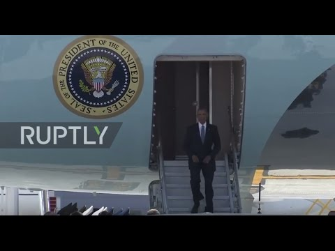 China: Obama touches down in Hangzhou for G20