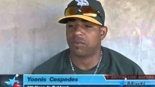TV Martí Noticias — El pelotero Yoenis Céspedes desea jugar con el equipo cubano