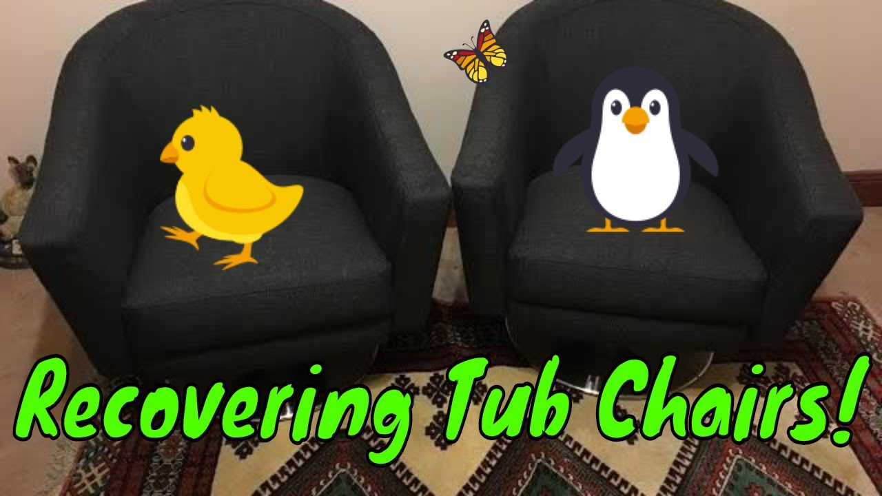 swivel tub chairs swing chair in room recovering 2 youtube
