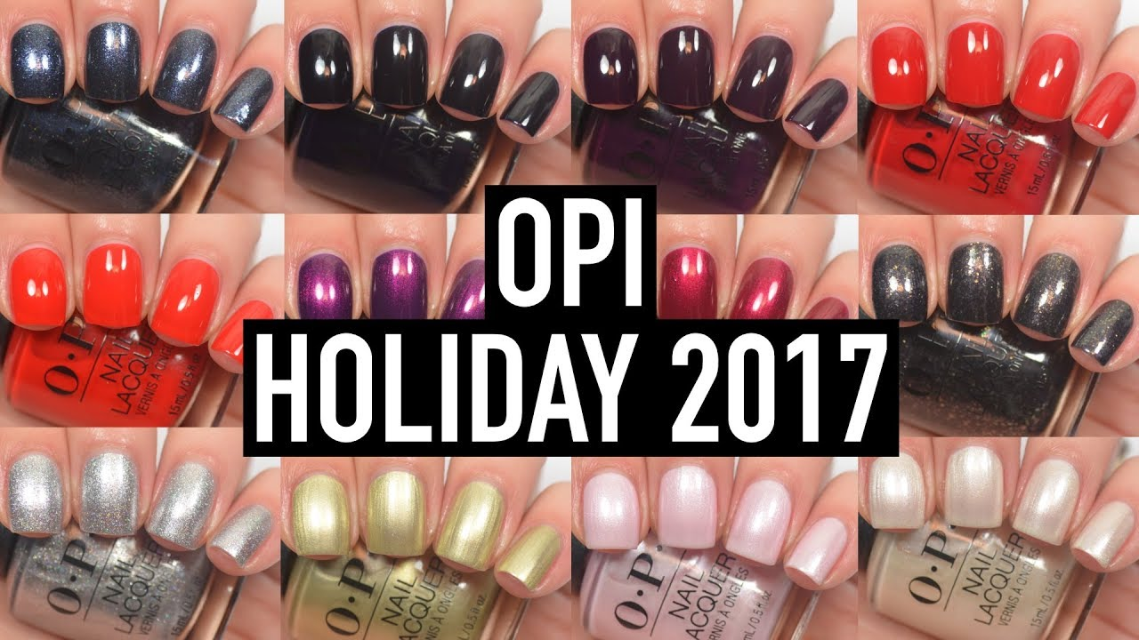 Opi Love Xoxo Holiday 2017 Swatch And Review