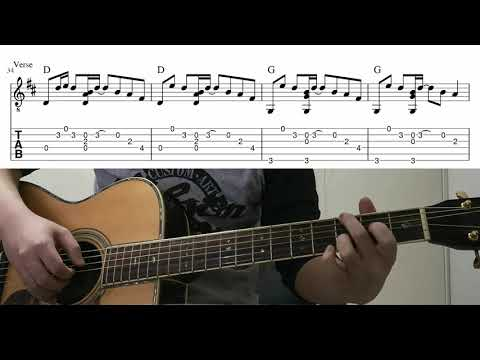 Sunflower (Post Malone & Swae Lee)  - Easy Fingerstyle Guitar Playthrough Tutorial Lesson With Tabs