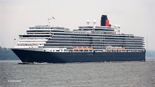 Queen Victoria Departure From Hamburg Germany With Amazing Horn Blast 4K Quality Video