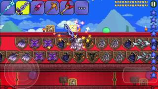 Terraria Mobile - ALL ITEMS MAP!