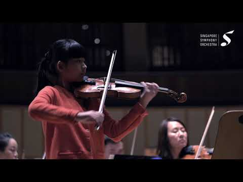 Chloe Chua plays Meditation   Rehearsal with SSO 1 Oct 2019 (Age 12)