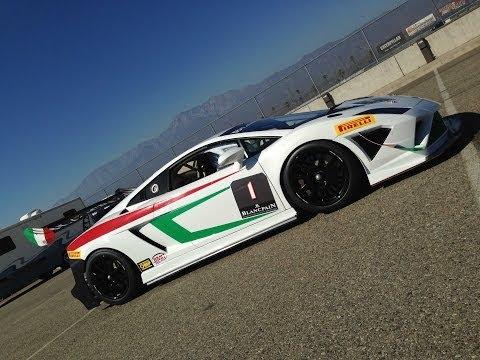 Lamborghini Gallardo Super Trofeo with NASCAR's Kevin Conway