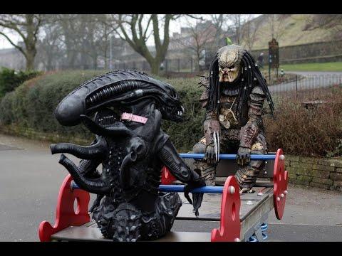 Aliens VS Predator - [Predator 4 พากย์ไทย] - กับดักผ้าอนามัย fail