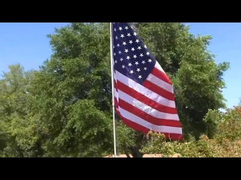 Homemade Flag Pole From Fence Poles