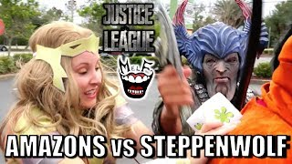 AMAZONS vs STEPPENWOLF! Epic Justice League Movie Parody