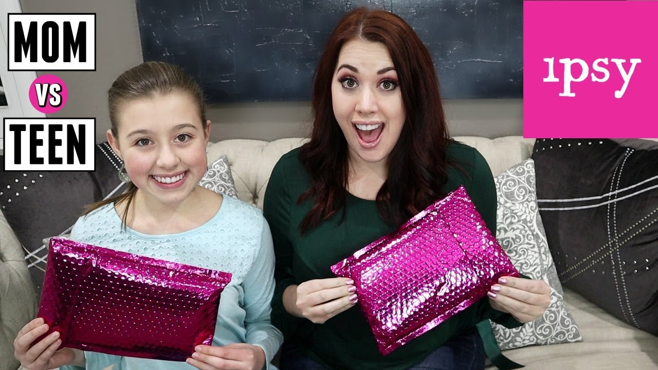 Mom Vs Teen Ipsy Makeup Unboxing 2019