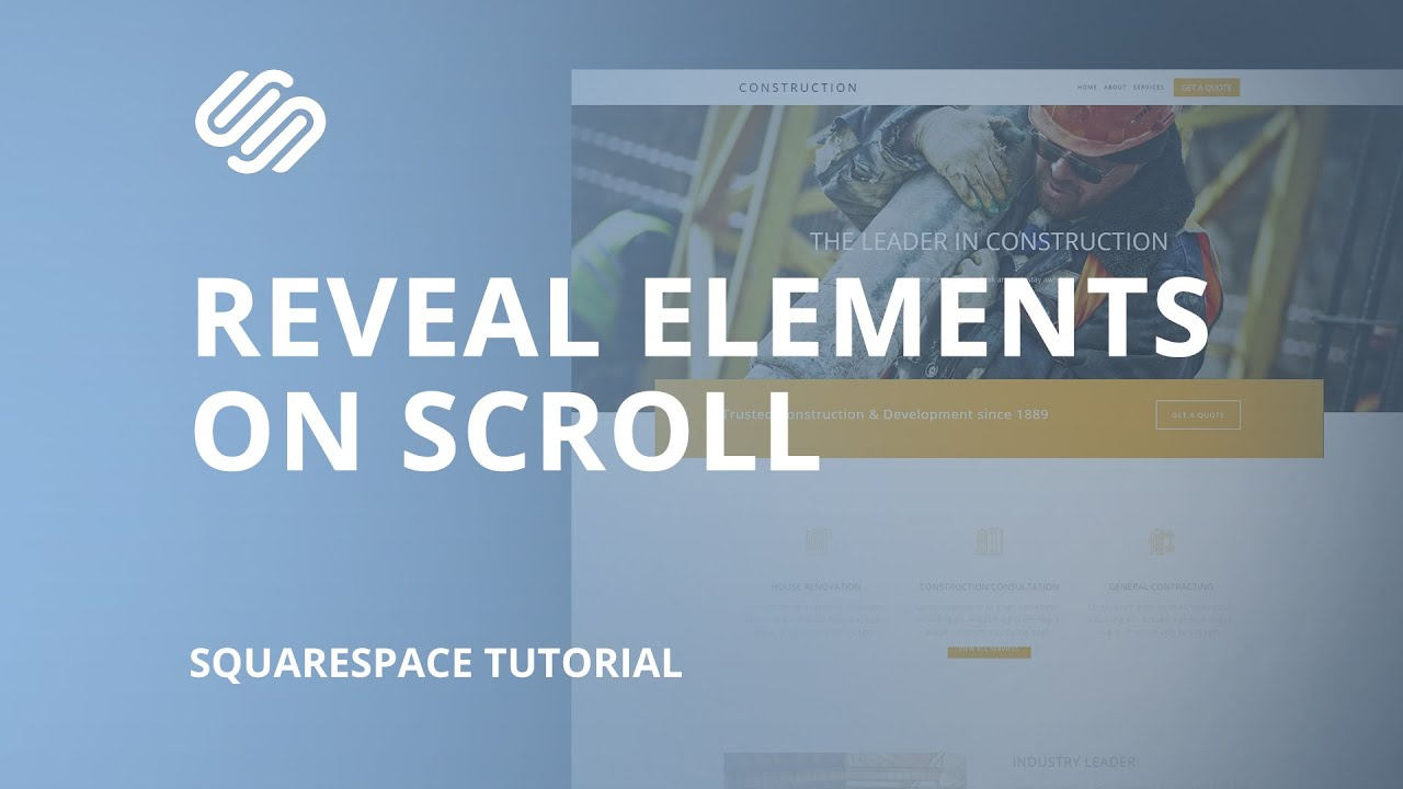 Scroll Reveal on Squarespace - Fade in Text and Images When You