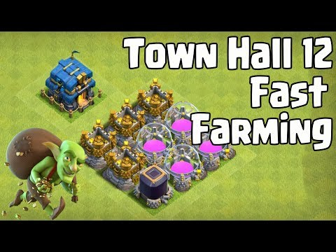 NEW TOWN HALL 12 FARMING ATTACK | Fast Gold,Elixir and Dark Farming & Fast Upgrade Your Town Hall 12