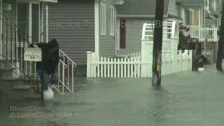 Broad Channel, NY Nor'easter storm surge floods homes and cars 10/27/2018