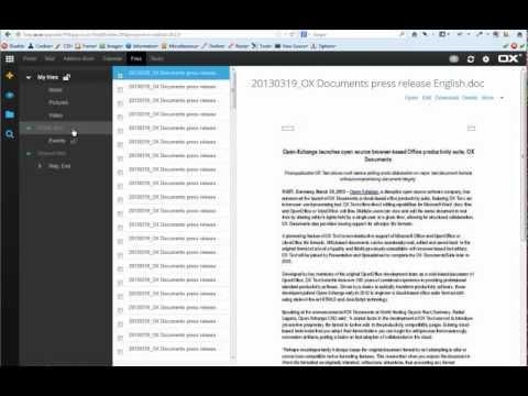 Open Exchange (xchange) App Suite Document Editor Demo