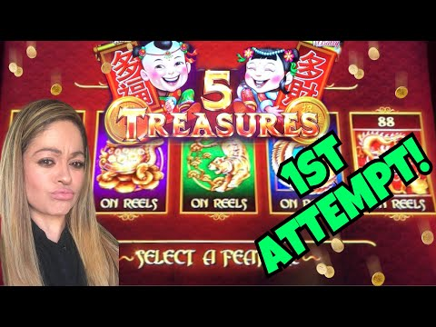 BALLY'S 5 TREASURES 1st ATTEMPT LIVE PLAY!